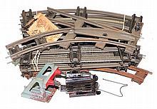 Box of Hornby O-gauge clockwork Track