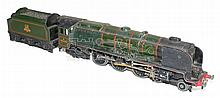 Hornby Dublo 3-rail diecast 4-6-2 Locomotive & Tender