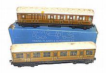Two Hornby Dublo LNER D1 Passenger Coaches