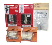 Five 54mm scale diecast Figure Kits