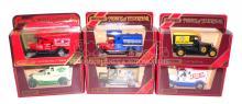 Six Matchbox Models of Yesteryear Vans