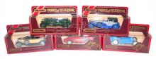 Five Matchbox Models of Yesteryear Cars