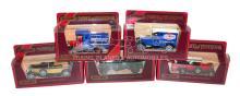 Five Matchbox Models of Yesteryear Vans