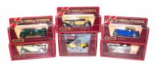 Six Matchbox Models of Yesteryear Cars