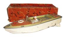 Arnold No. 1925 tinplate battery operated Speedboat