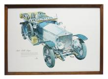 Framed Poster of 1914 Rolls Royce Silver Ghost