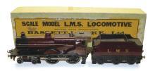 Bassett-Lowke O-gauge 3-rail 4-4-0 Locomotive & Tender