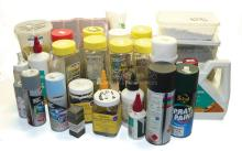Quantity of Model Railway Scenic Materials, Paints and Glues