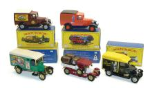 Five Matchbox Models of Yesteryear