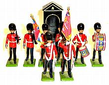 Britains Set of nine British Military Figures