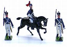 Three English diecast Figures