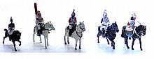 Five diecast Mounted Soldier Figures