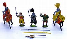 Five diecast Medieval Figures