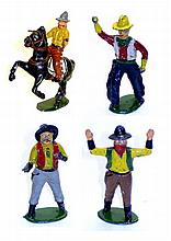 Four diecast Cowboy Figures