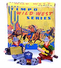 Timpo WW2017 diecast Set of two Cowboys and Campfire