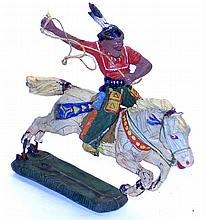 Elastolin Composite Figures Indian on Horse