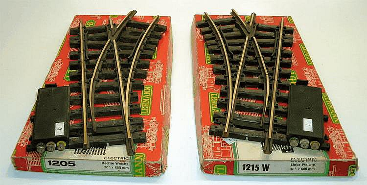 Two LGB 1-gauge Electric Points