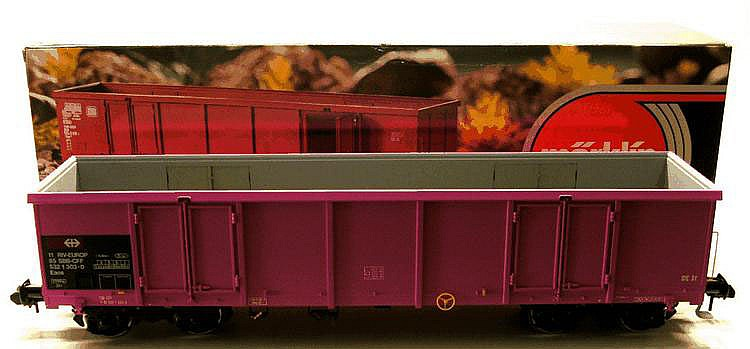 Marklin 1-gauge 5892 High Side Bogie Wagon