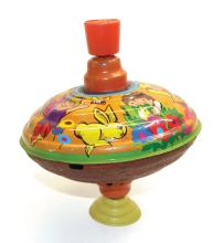 Fuchs tinplate plunger-action Child's Spinning Top