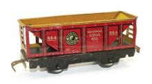 O-gauge 4-wheel Coal Wagon