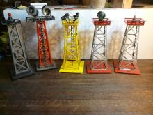 Lot of 5 Light Towers