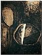 Joseph Sima (1891-1971)  Sans titre, 1957 Lavis d'encre et aquarelle sur papier marouflé sur toile Signé en bas à droite Ink wash an...