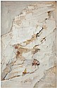Arpad Szenes (1897-1985) A propos de Varengeville, 1973 Huile sur papier marouflé sur toile Signée en bas à droite Oil on paper laid...