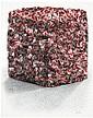César (1921-1998) Portrait de compression, 1986 Badges Batibouw en métal et crayon sur panneau Signé en bas à droite Metal badges an...