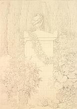 Antoine CHAZAL (Paris 1793-1854) Projet du tombeau de Gérard van Spaendonck Crayon noir 61,5 x 46cm On joint cinq dessins du même ar...