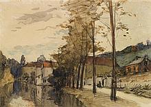 Frank-Boggs (1855-1926) Dreux, 1907 Aquarelle sur papier Signée, située et datée