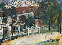 MAURICE UTRILLO (1883-1955) Le lapin Agile, VERS 1918 Gouache sur papier Signée en bas à droite 38 x 50cm