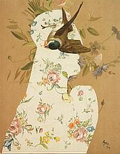 Eileen Agar (1904-1991) Tête à l'oiseau, 1939 Collage sur papier Signé et daté en bas à droite 28 x 22cm