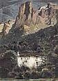 José Beulas Recasens (Né EN 1921) Maison dans la montagne Huile sur toile Signée en bas à droite 81 x 60 cm