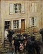Jules René Hervé (1887-1981) La sortie de la mariée Huile sur carton Signée en bas à gauche 27 x 22 cm