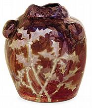 LOUIS-ÉTIENNE DESMANT (1844-1902) An ovoid enamelled stoneware vase, Boulogne-sur-Seine or Subles, 1894-1897. (Two small chips). Incise