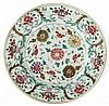 A Qianlong porcelain dish, China, 18th century. DIAM. 31,5 cm DIAM. 12 7/16 IN.
