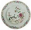 A Qianlong porcelain dish, China, 18th century. DIAM. 39 cm DIAM. 15 3/8 IN.