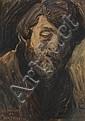 KEES VAN DONGEN (1877 - 1968)  Autoportrait de l'artiste, 1898 Aquarelle sur papier Titrée en bas à gauche 36 x 26 cm - 14 1/8 x 10 ...