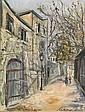MAURICE UTRILLO (1883 - 1955)  Montmartre Huile sur toile  Titrée en bas à gauche Signée en bas à droite 24 x 19 cm - 9 3/8 x 7 3/8 ...