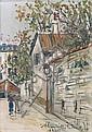 MAURICE UTRILLO (1883 - 1955)  Rue Saint Vincent, 1937 Huile sur toile  Signée et datée en bas à droite 22 x 16 cm - 8 5/8 x 6 1/4 i...