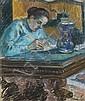ƒ ARMAND GUILLAUMIN (1841 - 1927)  Madame Guillaumin écrivant, 1892 Pastel sur papier Signé en bas à droite 70,5 x 64 cm - 27 3/4 x ...