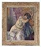 HENRI MANGUIN (1874 - 1949)  Nu assoupi, vers 1930 Huile sur toile Signée en bas à droite 65 x 54 cm - 25 1/2 x 21 1/4 in