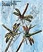 Bernard Buffet (1928 - 1999)  Les libellules,1995 Huile sur masonite Signée en haut à gauche 55 x 46 cm - 21 5/8 x 18 in
