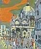 Jean COUTY (1907 - 1991)  Vue de Venise Huile sur toile 55 X 46 cm - 21 5/8 x 18 in