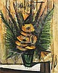Bernard Buffet (1834 - 1917)  Bouquet de soucis, 1978 Huile sur toile Signée en haut au centre et datée