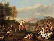 Daniel VERTANGEN (LaHaye, 1598-Amsterdam, avant 1684) Bacchanale Panneau de chêne, une planche, non parqueté Oak panel, one non-crad...