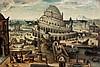 Attribué à Abel GRIMMER (vers 1570-avant 1619) La Tour de Babel Panneau de chêne, parqueté Oak panel, cradled 53 x 78cm (20 13/16 IN..., Abel Grimmer, €10,000