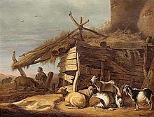Cornelis SAFTLEVEN (Gorkum 1607-Rotterdam 1681) Le fils prodigue Panneau de chêne, parqueté Oak panel, cradled. Signed and dated in ...