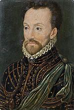 École FRANÇAISE vers 1580, entourage de François CLOUET Portrait dit de François de Coligny Panneau de noyer () une planche, non par...