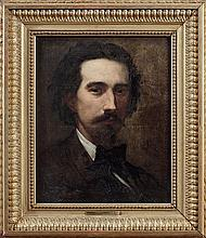 Fernand CORMON (Paris 1845-1924) Autoportrait présumé de l'artiste Sur sa toile d'origine On the original canvas. Monogrammed on the...